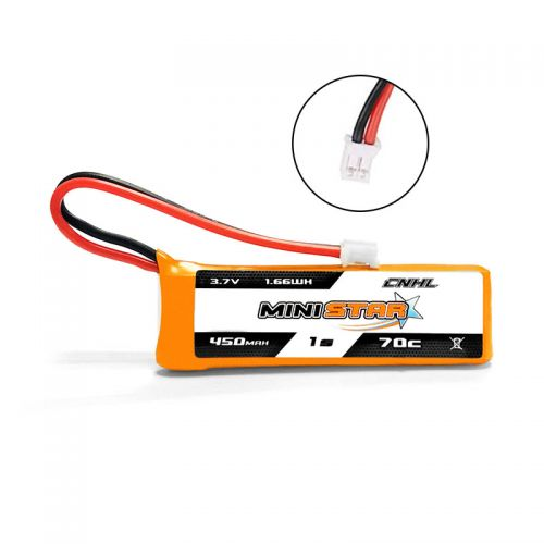 CNHL MiniStar 450mAh 3.7V 1S 70C Lipo Battery With PH 2.0 for EMAX TinyHawk