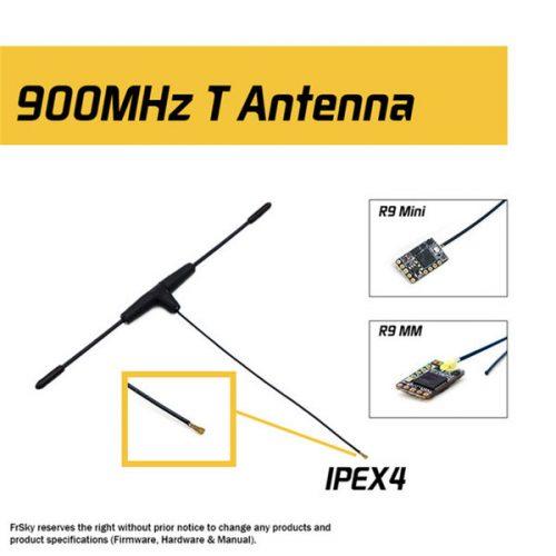 Dipolo T original FrSky 900MHz IPEX4 Receptor Antena para R9 Mini / R9 MM Versión FCC