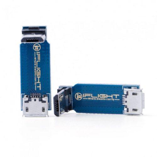 Placa adaptadora tipo L Micro USB macho a hembra