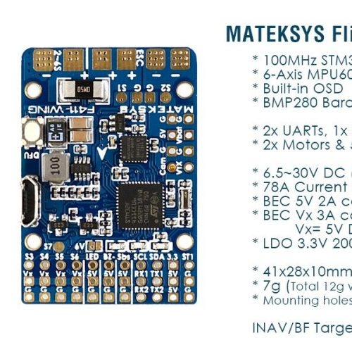 Matek – Flight Controller F411-WING