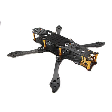FLYWOO Mr.Croc 225mm 5 pulgadas FPV FreeStyle Racing Frame Kit( DORADO)