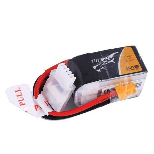 Tattu 14.8V 75C 4S1P 450mAh Lipo Battery Pack With XT30 Plug