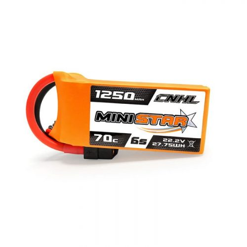 CNHL MiniStar 1250MAH 22.2V 6S 70C Lipo Battery For FPV With XT60 Plug