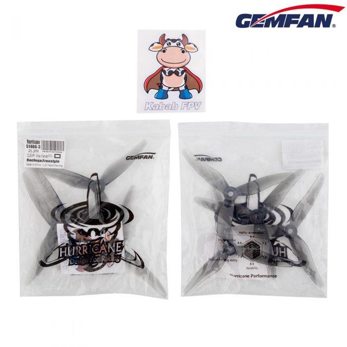 Gemfan 51466X3 HURRICANE DURABLE (TRANSPARENTE) (4PCS) MCK