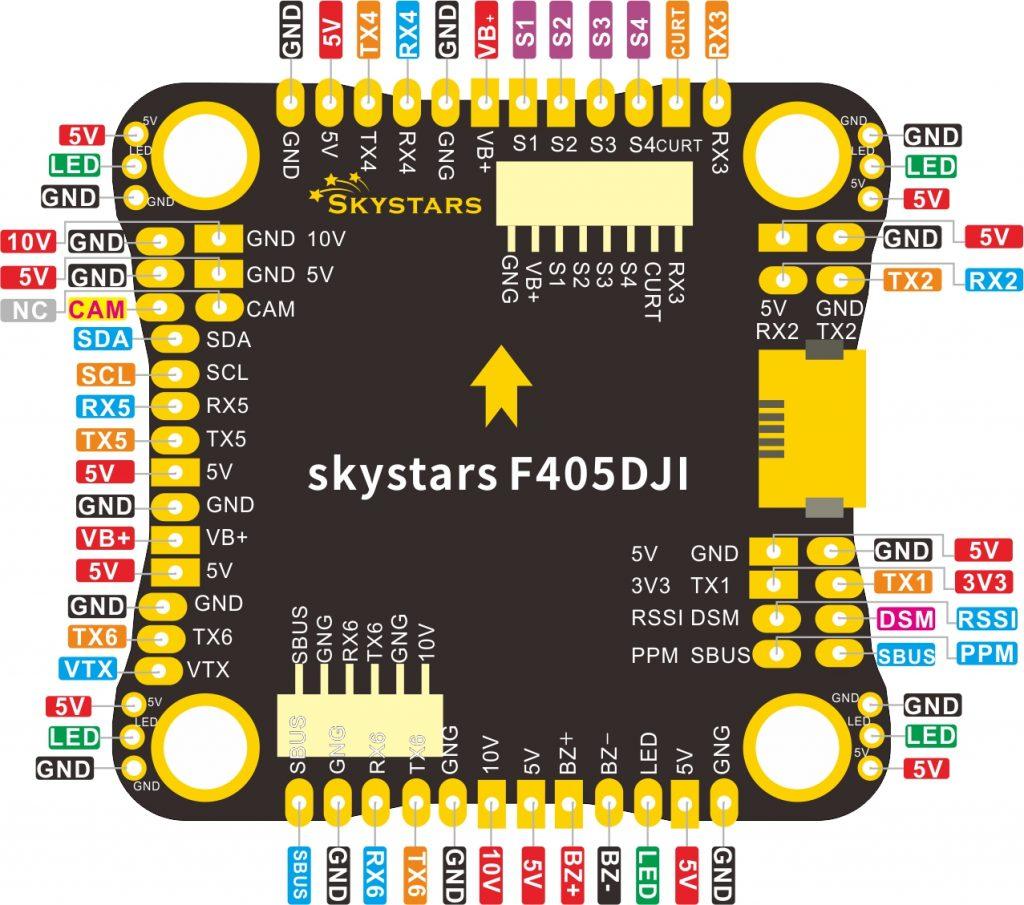 SKYSTARS F405HD 30×30 Flight Controller